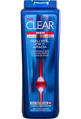 Clear Şamp.Men 550Ml Hızlı Stil 21