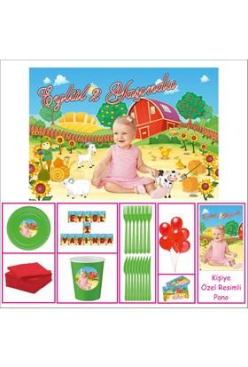 Kız Çocuğu 1 Yaş Doğum Günü Çiftlik Süpriz Set 40 Kişilik Parti Çocuk