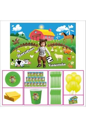 Erkek Çocuğu 1 Yaş Doğum Günü Özel Set 30 Kişilik Parti Çocuk
