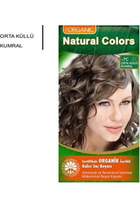 Organıc Natural Colors Saç Boyası 7C Orta Küllü Kumral