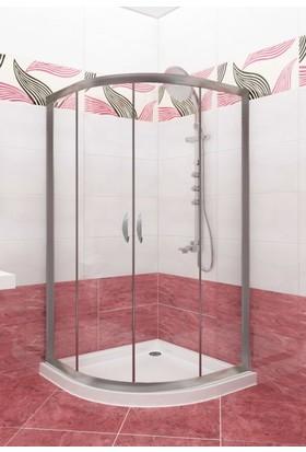 CAMEKAN Oval Duş Kabini (80*110) h:190 cm -TEKNESİZ