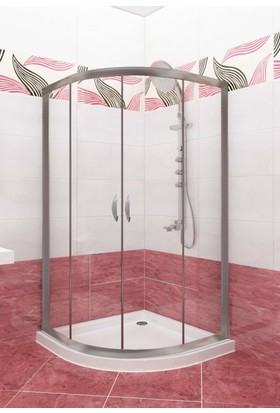 CAMEKAN Oval Duş Kabini (100*130) h:190 cm -TEKNESİZ
