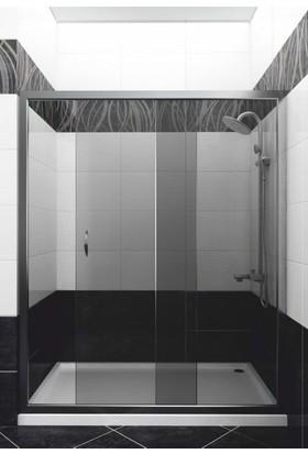 CAMEKAN İki Duvar Arası - 1 Sabit, 1 Sürgülü Duş Kabini (110 cm) h:190 cm - TEKNESİZ