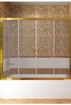CAMEKAN İki Duvar Arası - 2 Sabit, 2 Sürgülü Duş Kabini (190 cm) h:190 cm - TEKNESİZ