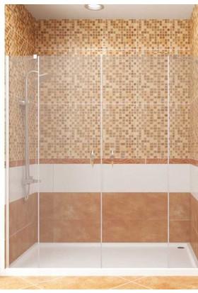 CAMEKAN İki Duvar Arası - 2 Sabit, 2 İçe/Dışa Açılan Duş Kabini (200 cm) h:190 cm - TEKNESİZ