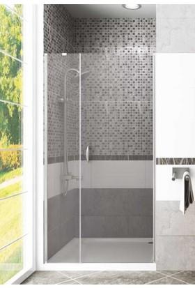 CAMEKAN İki Duvar Arası - 1 Sabit, 1 İçe/Dışa Açılan Duş Kabini (105 cm) h:190 cm - TEKNESİZ