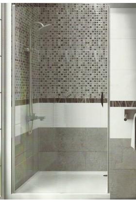 CAMEKAN İki Duvar Arası - 1 İçe/Dışa Açılan Duş Kapısı En:90 cm h:190 cm - TEKNESİZ