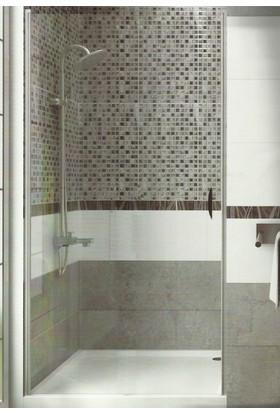 CAMEKAN İki Duvar Arası - 1 İçe/Dışa Açılan Duş Kapısı En:85 cm h:190 cm - TEKNESİZ