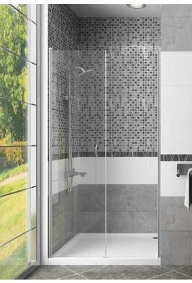 CAMEKAN İki Duvar Arası - 2 İçe/Dışa Açılan Duş Kapısı En:75 cm h:190 cm - TEKNESİZ