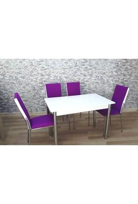 Kutuphome Gözde Masa Sandalye Takımı Mor