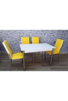 Kutuphome Gözde Masa Sandalye Takımı Sarı