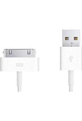 Havana Apple İphone 4S / 4 Usb Şarj Data Kablosu Beyaz 30 Pin