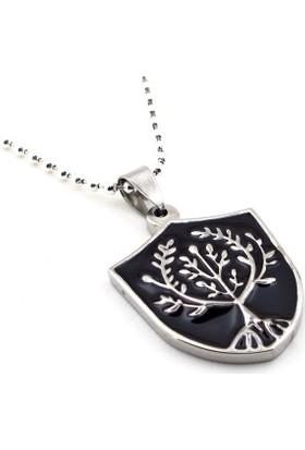 Solfera Yggdrasil Hayat Ağacı Madayol Çelik Erkek Kolye K906