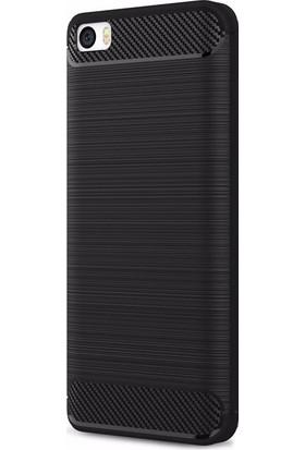 Eiroo Xiaomi Mi 5 Carbon Shield Süper Koruma Siyah Kılıf