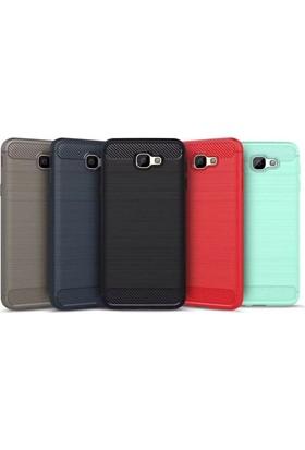 Eiroo Samsung Galaxy J7 Prime Carbon Shield Ultra Koruma Dark Silver Kılıf