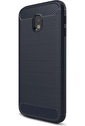 Eiroo Samsung Galaxy J3 2017 Carbon Shield Ultra Koruma Lacivert Kılıf