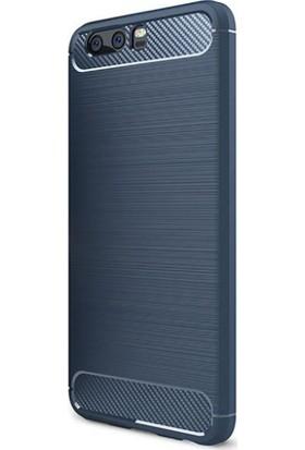 Eiroo Huawei P10 Carbon Shield Ultra Koruma Lacivert Kılıf