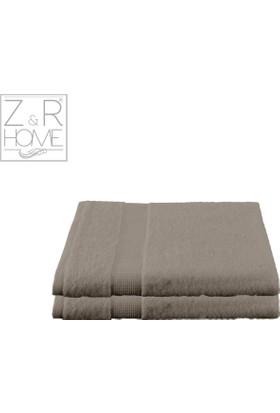 Z&R HOME Bambu 2'li Banyo Havlusu Pukka - Açık Bej