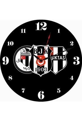 Beşiktaş Spor Kanvas Duvar Saati