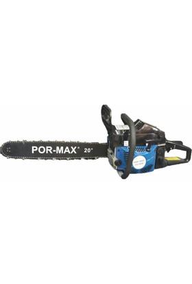 Por-Max CS-5200 Ağaç ve Odun Kesme Motoru (HIZAR) Benzinli Testere 3Hp 38 Diş