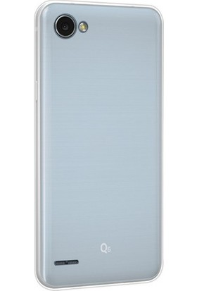 Gpack LG Q6 Silikon Kılıf 0.2mm Ultra İnce + Nano Glass Ekran Koruyucu