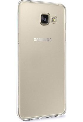 Gpack Samsung A3 2016 Silikon Kılıf 0.2mm Ultra İnce + Nano Glass Ekran Koruyucu