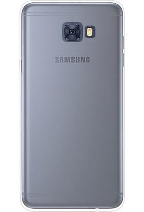Smiletisim Samsung C7 Pro Silikon Kılıf 0.2mm Ultra İnce + Nano Glass Ekran Koruyucu