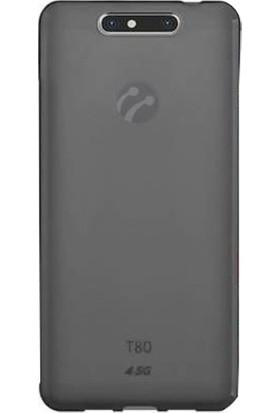 Gpack Turkcell T80 Silikon Kılıf 0.2mm Ultra İnce + Nano Glass Ekran Koruyucu