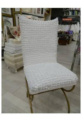 Atacan Bürümcük Sandalye Örtüsü Set 6 Lı Beyaz