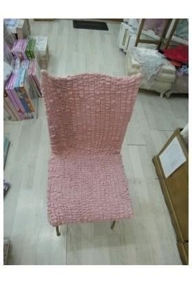 Atacan Bürümcük Sandalye Örtüsü Set 6 Lı Pudra