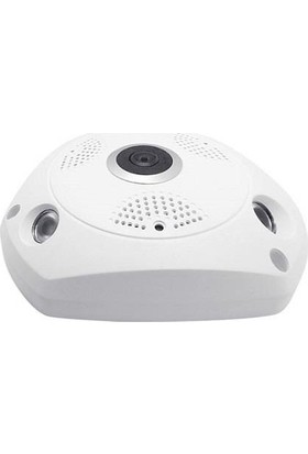 Jasboom Jas200-F01, 2.0Mp 360 Derece Görüş Açısı, 1080P H.265, Çift Yönlü Ses, Panoramik Ip Kamera
