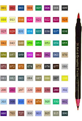 Zig Brush Pen Art Graphic Twin 303 Tut80