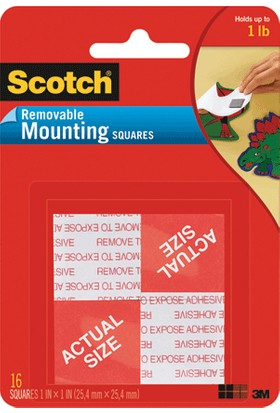 Scotch Çift Taraflı Bant Köpük Kareler 16 Lı 2.5X2.5 108