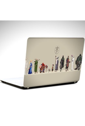 Dekolata Lord Of The Rings Laptop Sticker Boyut LAPTOP 14 inch (35X26)