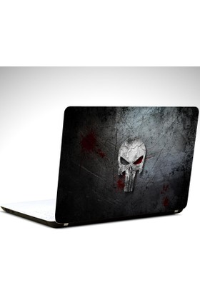 Dekolata Punisher Laptop Sticker Boyut LAPTOP 19 inch (40,5X27)