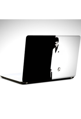 Dekolata Yaralı Yüz Laptop Sticker Boyut LAPTOP 19 inch (40,5X27)