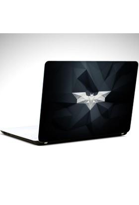 Dekolata Batman Beyaz Logo Laptop Sticker Boyut LAPTOP 19 inch (40,5X27)