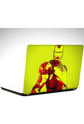 Dekolata İron Man Laptop Sticker Boyut LAPTOP 19 inch (40,5X27)
