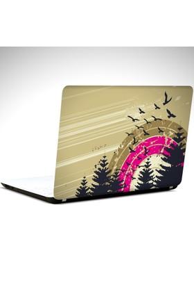 Dekolata Kuşlar Laptop Sticker Boyut LAPTOP 19 inch (40,5X27)