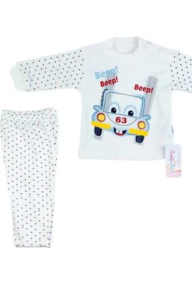 Kardelya Araba Baskılı Bebek Pijama Takımı
