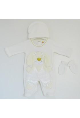 Kardeşler 4118 Dantelli Ayı Bebek Tulum