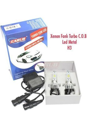 Xenon Set Turbo Cob Led H3 Metal