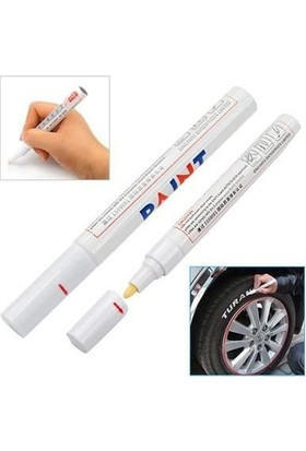 Lastik Yazma Kalemi Bilyalı Beyaz