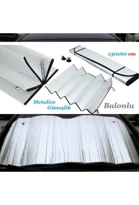 Güneşlik Ön Cam Metalize Balonlu 130X60 Cm
