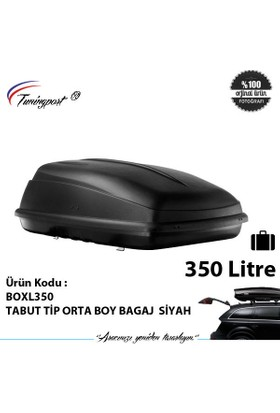 Tabut Tip Orta Boy Bagaj Siyah 350 Lt