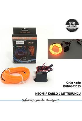 Neon İp Kablo 2 Mt Turuncu