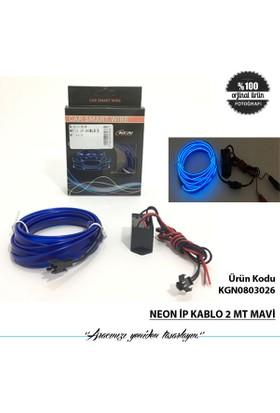 Neon İp Kablo 2 Mt Mavi