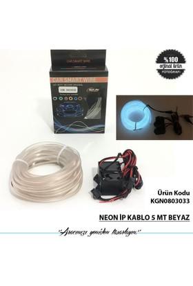 Neon İp Kablo 5 Mt Beyaz
