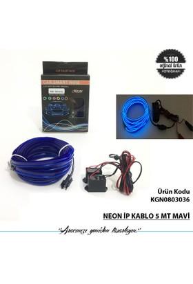 Neon İp Kablo 5 Mt Mavi