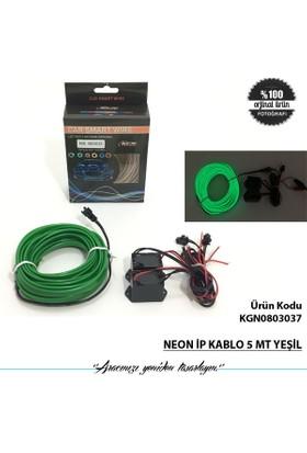 Neon İp Kablo 5 Mt Yeşil